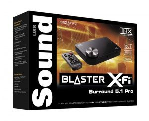 Creative Sound Blaster X-Fi Surround 5.1 Pro USB with Remote (Refurbished)