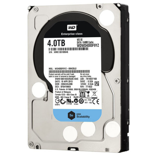 Western Digital Enterpise 4TB SE 7200Rpm 64M