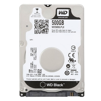 Western Digital Black 500GB 2.5'' 7200Rpm 16M FOR NOTEBOOK