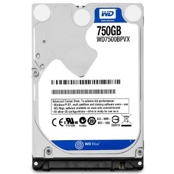 Western Digital Blue 750GB 2.5'' 5400Rpm 8M FOR NOTEBOOK