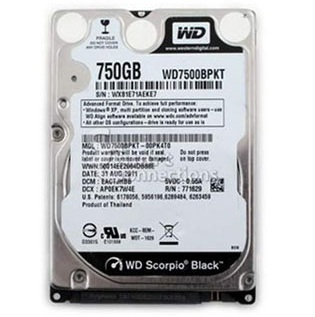 Western Digital Black 750GB 2.5'' 7200Rpm 16M FOR NOTEBOOK