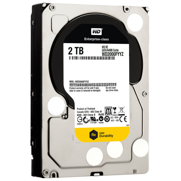 Western Digital Enterpise 2TB RE 7200Rpm 64M