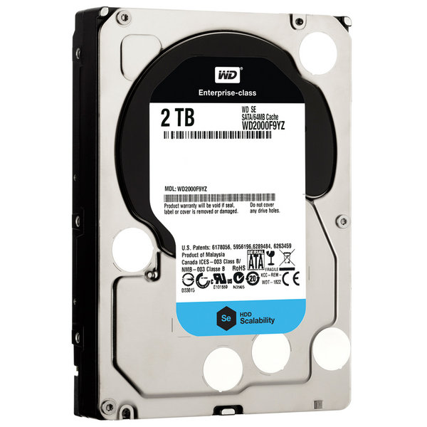 Western Digital Enterpise 2TB SE 7200Rpm 64M