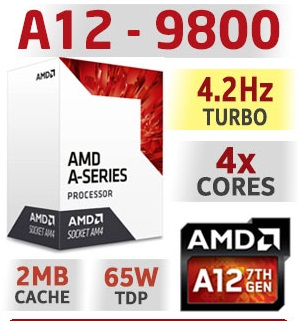 CPU AMD A12 9800E sk AM4 Tray