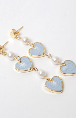 CHUU Blue Heart Earring