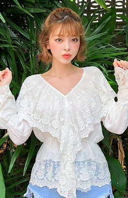 CHUU Midsummer Night Blouse
