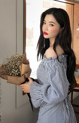 CHUU What Is Happiness Off Shoulder Dress