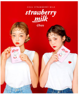 CHUU Strawberry Milk. Fallen For Strawberry Sleeveless
