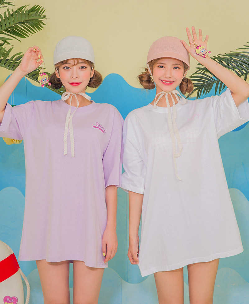 CHUU LEEGONG POOL PARTY Romantic Sunshine Tee