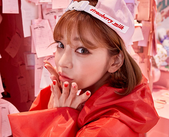CHUU strawberry milk. Rain Girl Raincoat