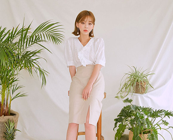 CHUU [Chuu Made] Soft Linen Skirt