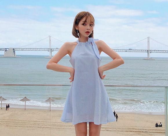 CHUU Full Of Love Halter Neck Dress
