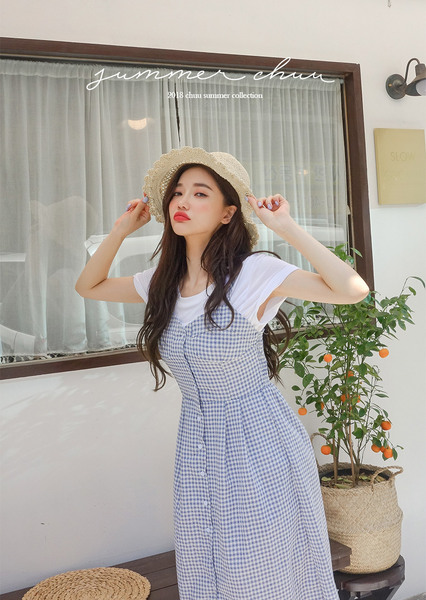 CHUU Understand Me Checkered Dress