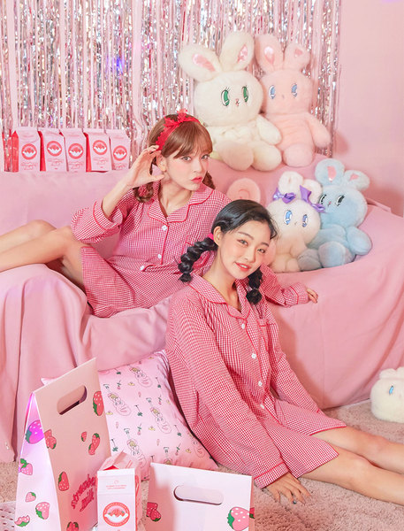CHUU strawberry milk. Strawberry Honey Jam Pajama
