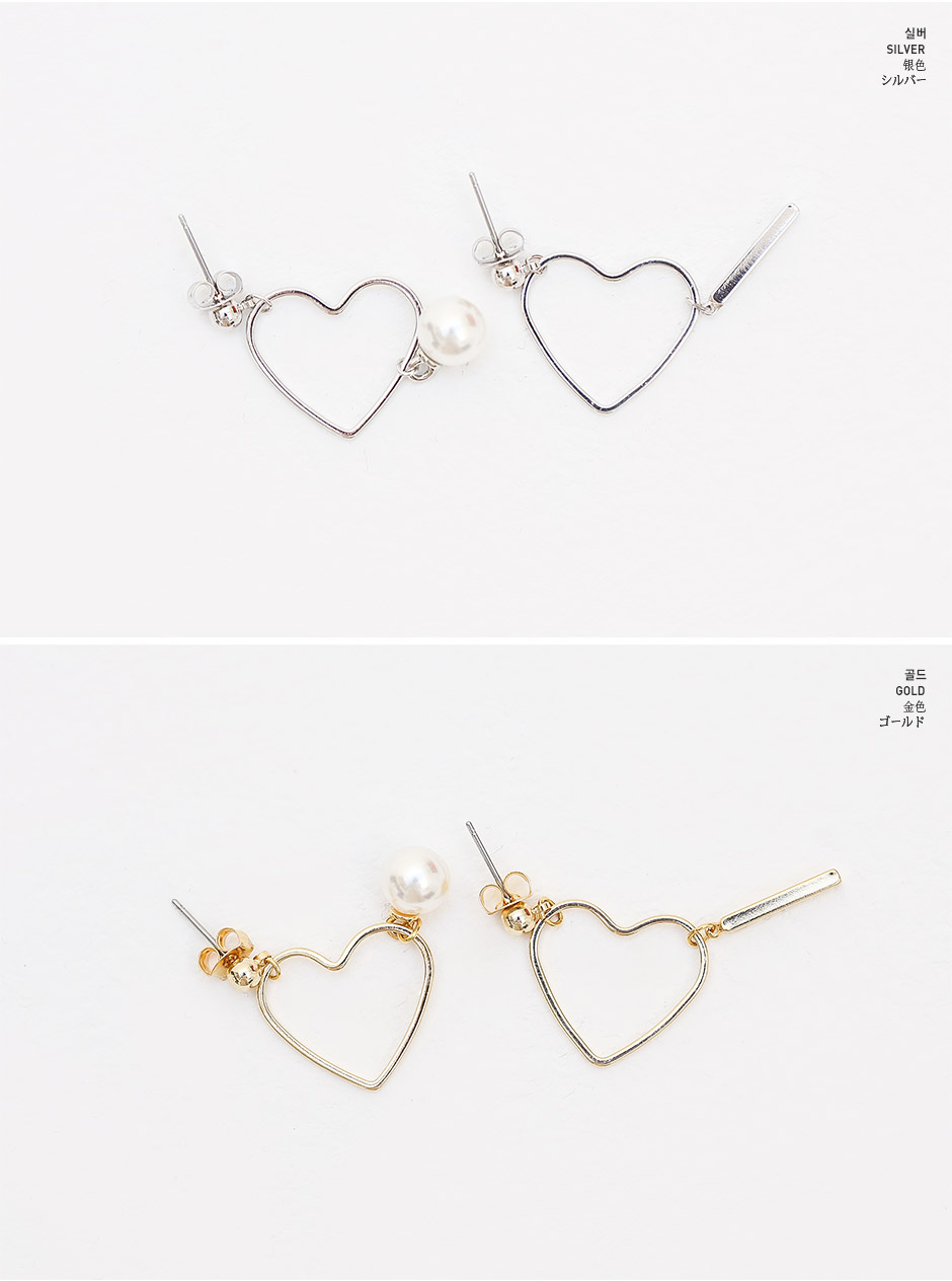 CHUU Fluttering Hearts Earrings