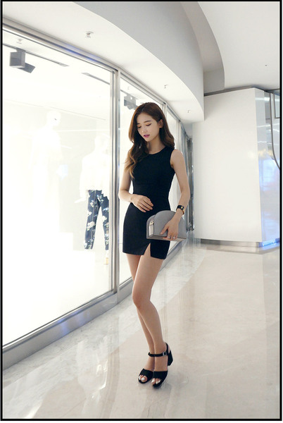 CHUU My Black Mini Dress