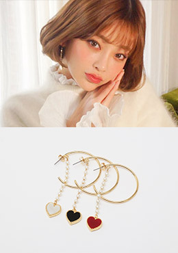 CHUU Shape Of My Love Earrings