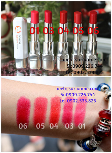 (SL75)Son Bamila Collagen Lipstick chứa tinh chất collagen