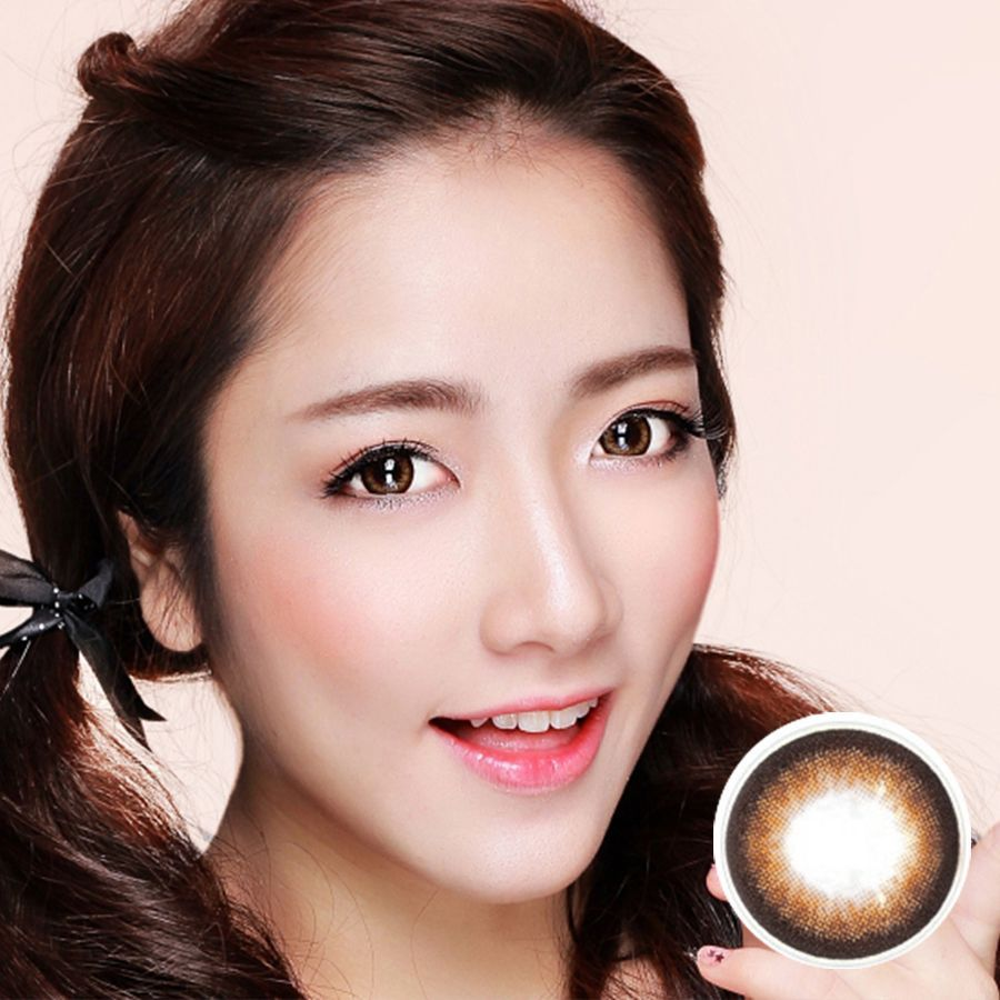 Kính áp tròng Doll Eye S Light Brown 000
