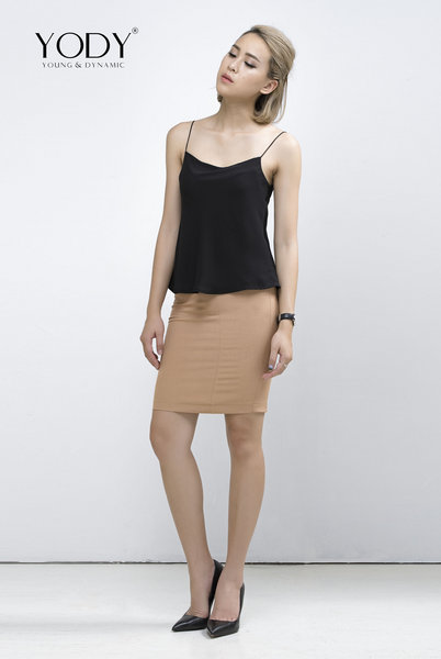 SKIRT CUT OUT_Nâu (VNH1020_BR)