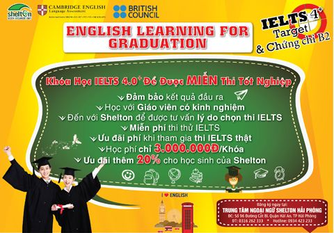 English Learning for Graduation – 4.0+ Miễn thi tốt nghiệp môn tiếng Anh