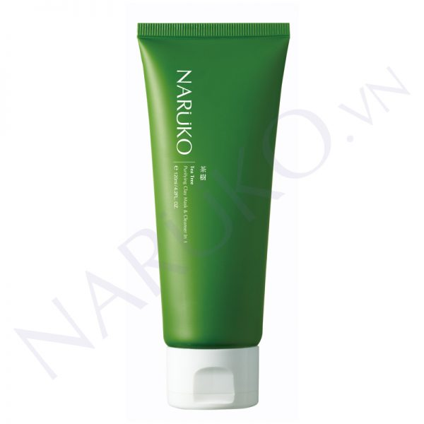 NARUKO - Sữa rửa mặt tràm trà Tea Tree Purifying Clay Mask & Cleanser In 1 120g
