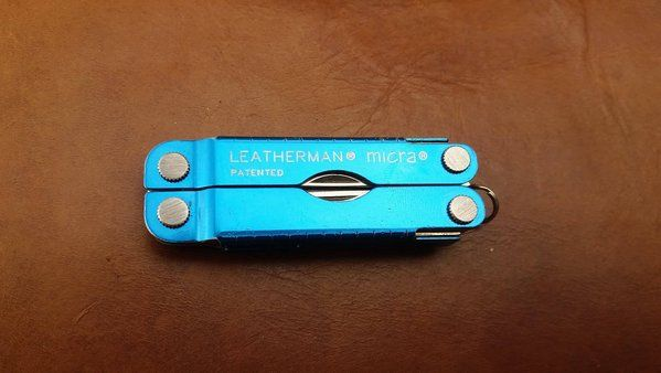 Leatherman Micra xanh blue used