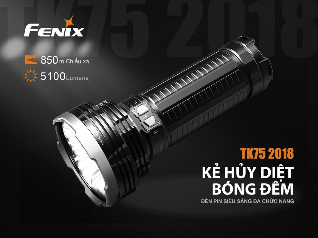 Đèn pin Fenix - TK75 Version 2018 (5100 Lumens)