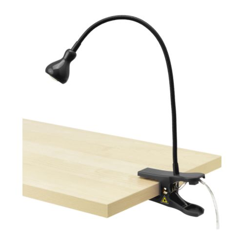 Đèn kẹp JANSJÖ LED clamp spotlight, black - IKEA