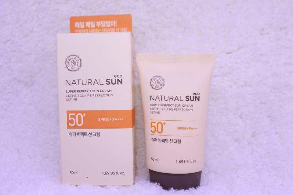 Kem Chống Nắng Natural Sun Super Perfect Sun Cream The Face Shop SPF 50