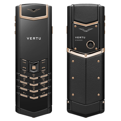 Vertu Signature Precious Black Red Gold Mixed Metals, Đen viền vàng
