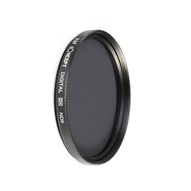 K&F Concept filter ND8 nanoX coated 49, 52, 58, 62, 67, 72, 77mm - Japan optic