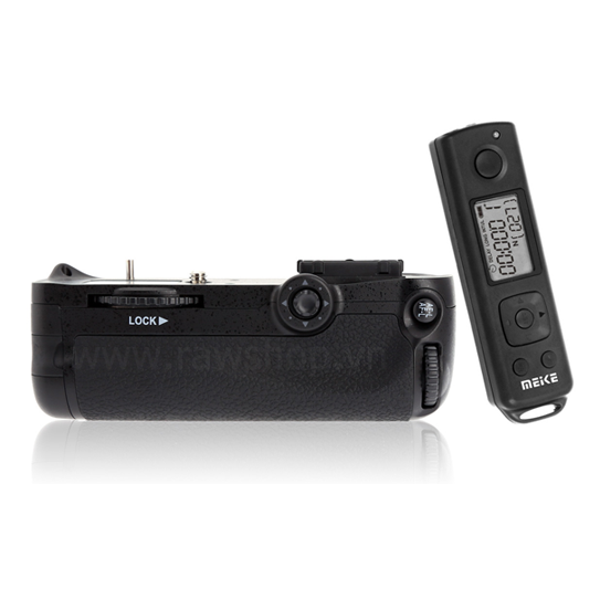Meike battery grip for Nikon D7100 - 2.4 Ghz LCD timelapse remote