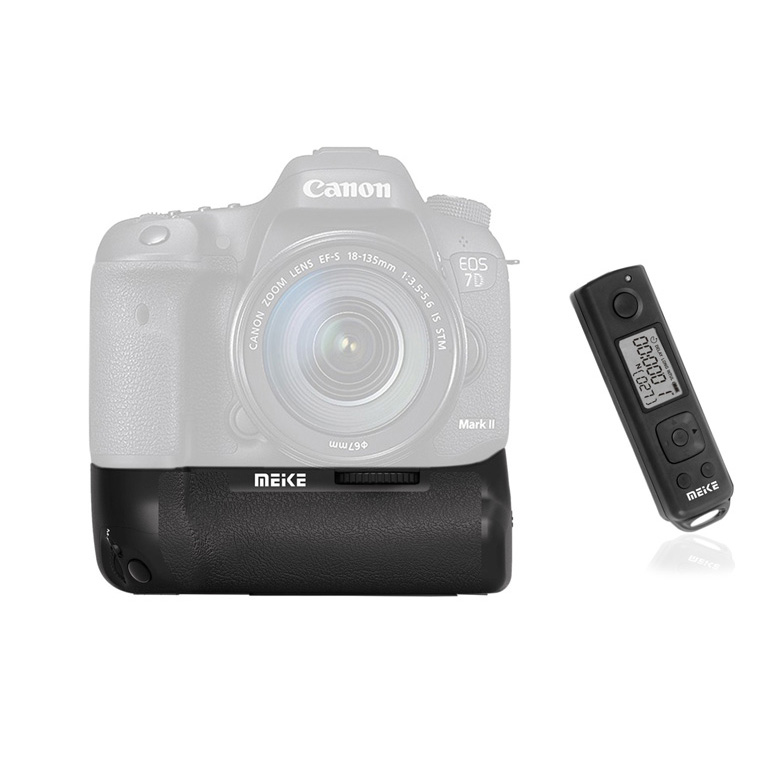 Meike battery grip 7DRII for Canon 7D mark II- 2.4GHz LCD Timer remote