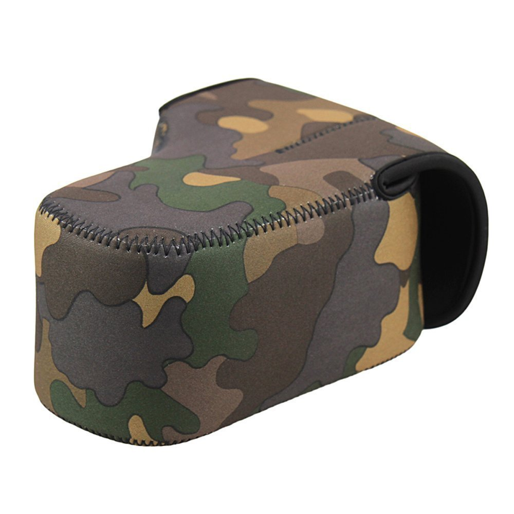 Camo Neoprene Camera Case size L/M/S