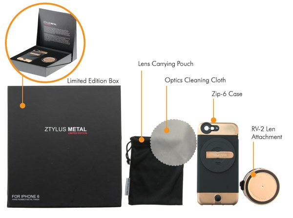 ZTYLUS METAL CAMERA KIT FOR IPHONE 6 / 6S