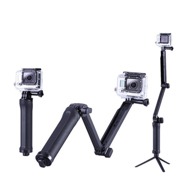 3 way arm monopod for Gopro SJCAM