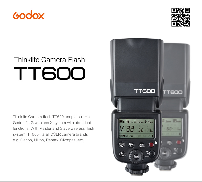 Godox TT600 Manual - GN60 - High speed sync for Canon Nikon Pentax... + Quà tặng