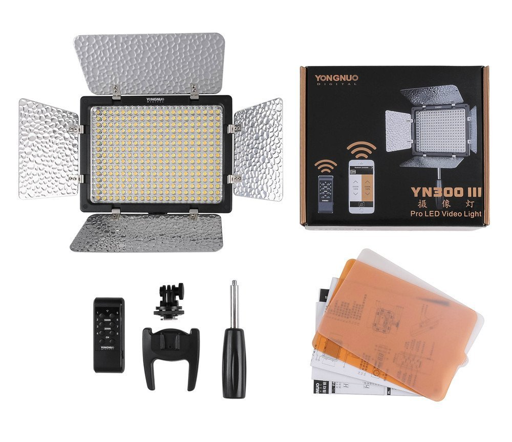 Đèn Pro Led Yongnuo 300III CRI95+ with Remote Control,Support AC Power Adapter & APP Remote