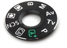 Dial mode plate for Canon 5D mark III