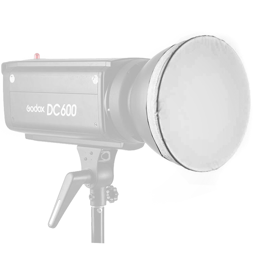 Soft diffuser for standard reflector bow