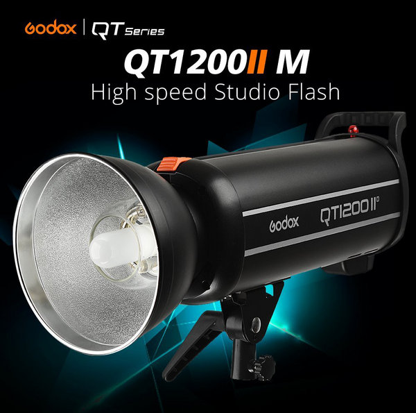 Godox QT1200IIM 1200WS GN102 1/8000s HSS Studio Flash Strobe Light Features 0.05-0.9s Recycle time, Built in 2.4G Receiver - Support 1/8000s HSS/Multi Flash/Delay Flash/Mask Function/S1/S2 Triggering