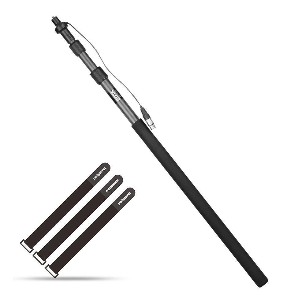 BOYA BY-PB25 Carbon Fiber Microphone Boom Pole with Internal XLR Cable