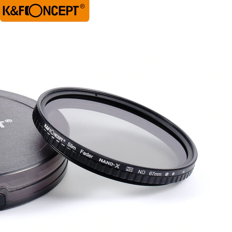 "KF Concept 82mm ND Filter Neutral Density Variable Filter ND2 to ND32 for lens NO""X"" Spot,Nanotec,Ultra-slim"