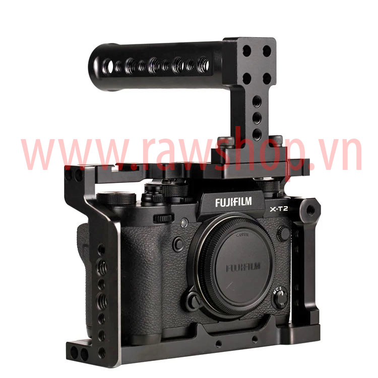 Small rig aluminium fit Fujifilm X-T2 with Handle grip
