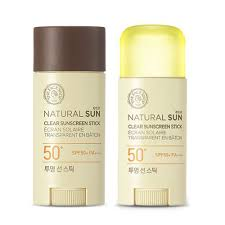 Natural sun clear sunscreen stick