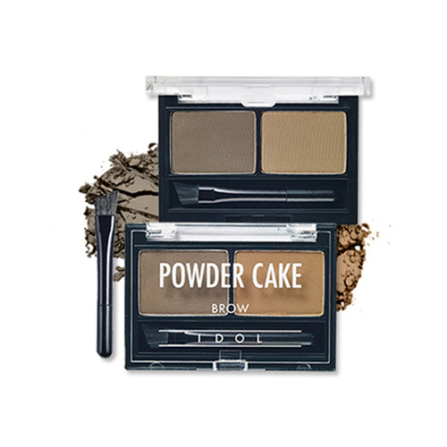 Powder cake brow