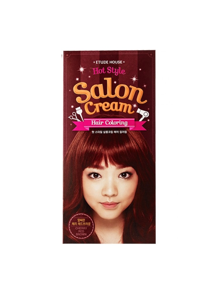salon cream hair coloring cherry red brown