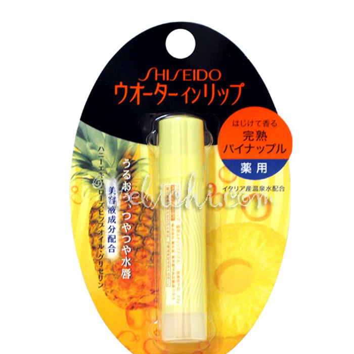 water in lip pineapple