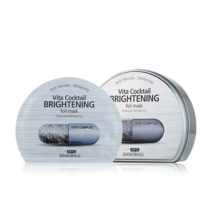 vita cocktail brightening foil mask